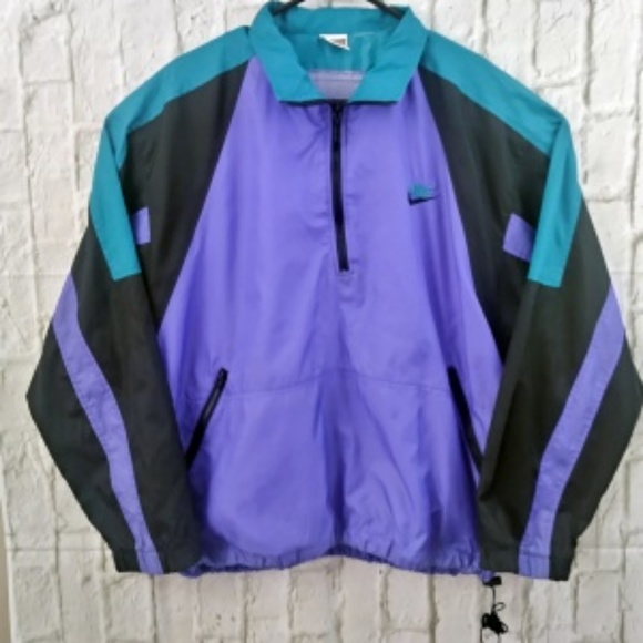 Nike Vintage Blue Black and Teal windbreaker Men s.  M 5aa042b5a825a6b7126bbb63 d2135ac65